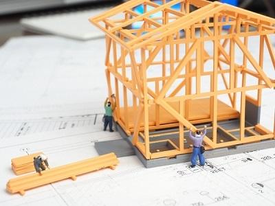 ミニチュア住宅を作る画像