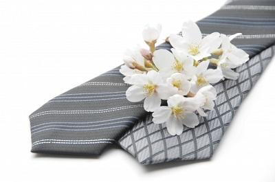 ネクタイと桜