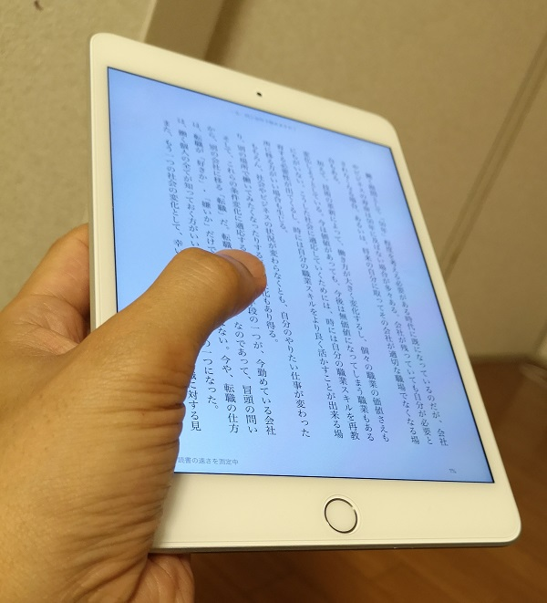 iPad mini5はkindle本を読むのに最適なサイズ