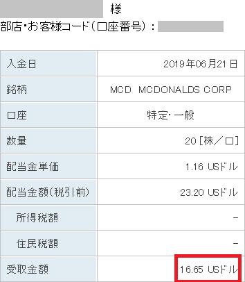 MCD配当20190621