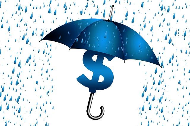 お金を守る傘