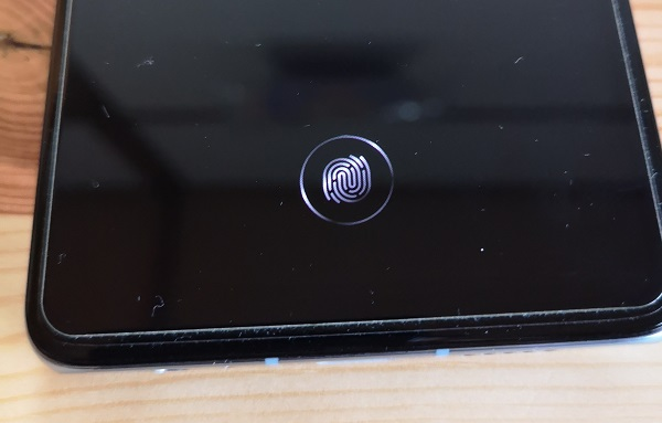 P30のディスプレイ指紋認証