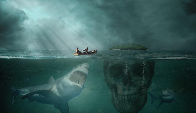 海の底は暗い