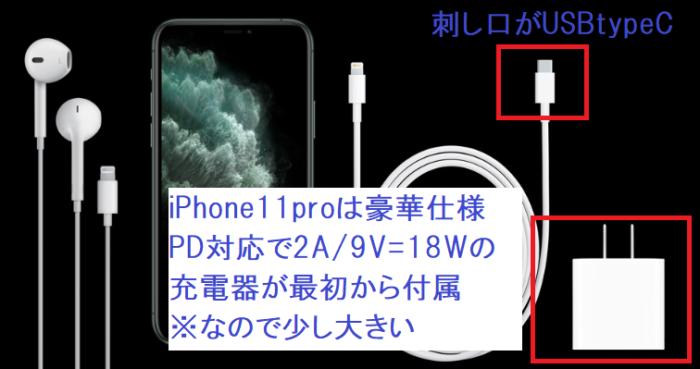 iPhone11proの純正充電器