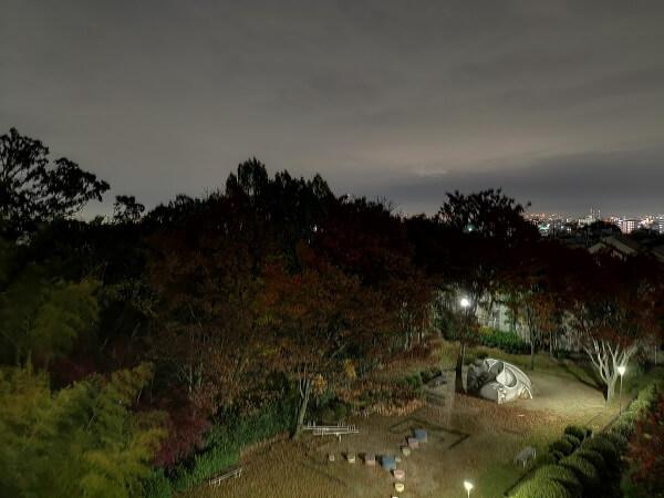 Mate20無印の夜景作例、夜景モード