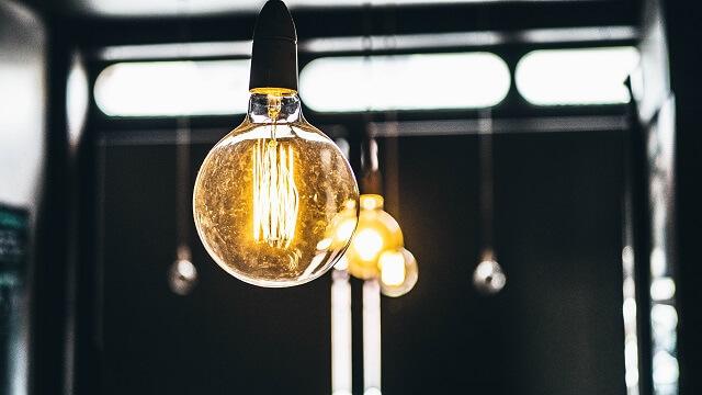 ヒント、電球の明かり