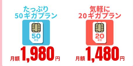 アイキャッチ20GB1480円SIMキャンペーン