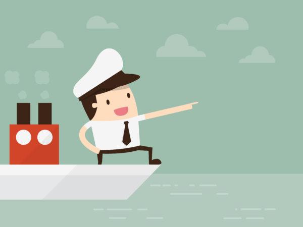 海を行く船長
