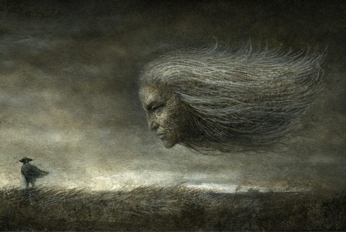 黒い霧に追いかけられる恐怖