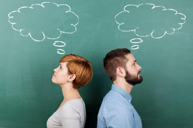 男性と女性の考え方