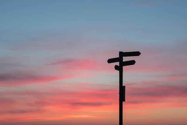 変化と方向と夕焼け
