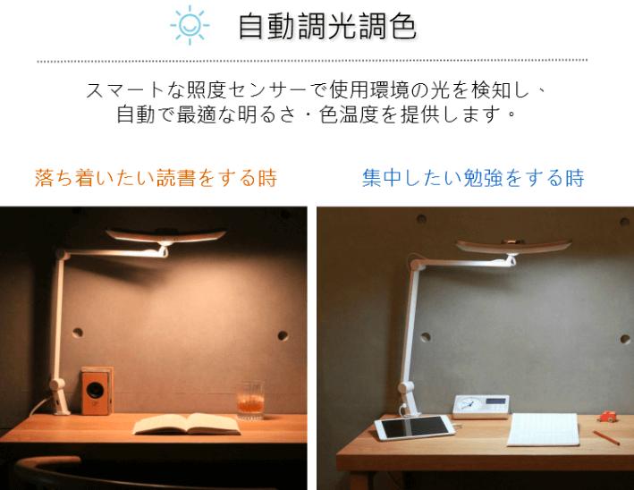 自動調光機能