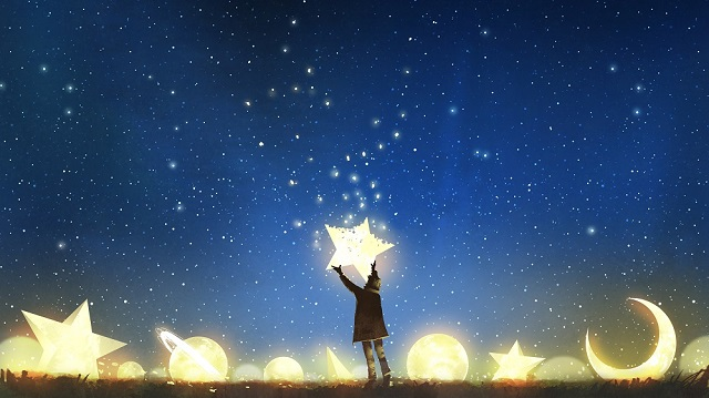 幻想的|星を掲げる少年