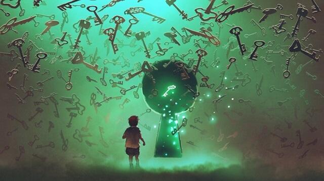 幻想的|少年と鍵
