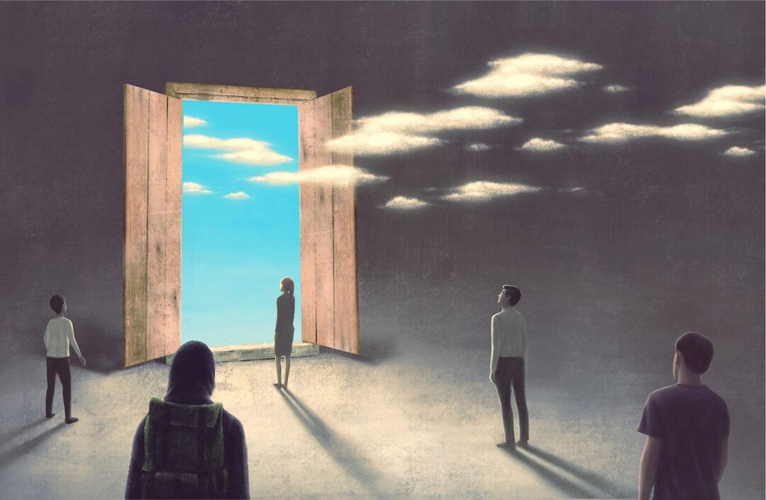 幻想的|窓から雲が入ってくる