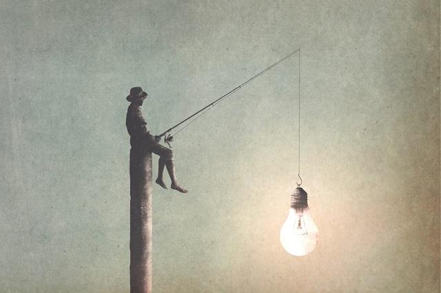 幻想的|電気を釣る人