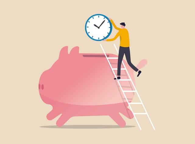 貯金箱と時間|タイムカプセル