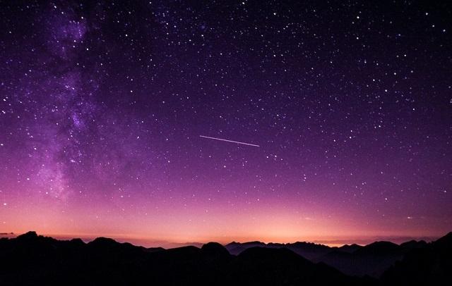 幻想的|夕焼けと星空