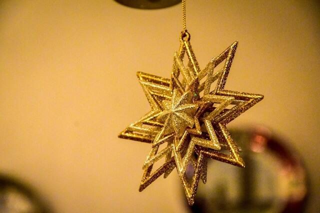 クリスマスっぽい星の飾り物